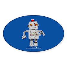 Zombie Robot Sticker V2 (Oval)