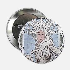 """Snowflake Queen 2.25"""" Button"""