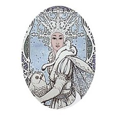 Snowflake Queen Ornament (Oval)