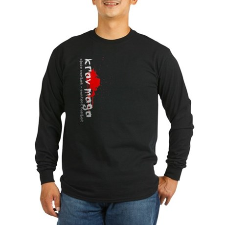 Long Sleeve Dark Krav Maga T-Shirt