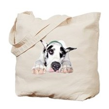 Great Dane Shy Harlequin Tote Bag