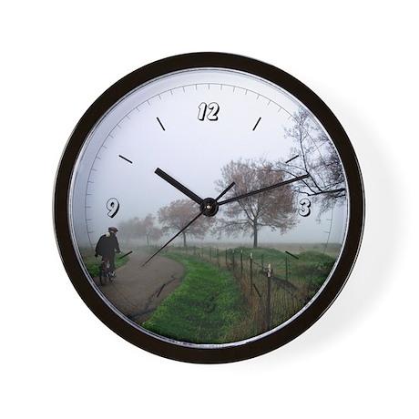 Foggy Rider Wall Clock