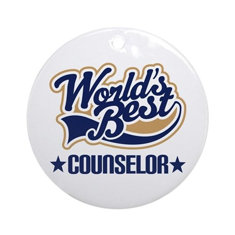 Worlds Best Counselor Ornament (Round)