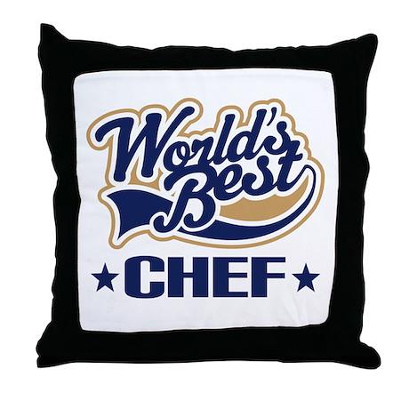 Worlds Best Chef Throw Pillow