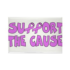 Breast Cancer Cause Rectangle Magnet (10 pack)