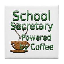 Cool School secretary Tile Coaster