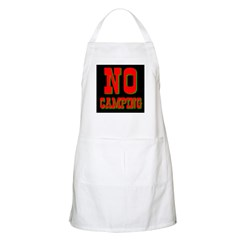 No Camping BBQ Apron