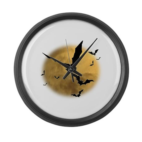 Bats in the Evening Large Wall Clock