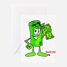 Mr. Deal - Buck Up - Dollar B Greeting Card