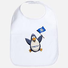 Connecticut Penguin Bib