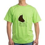 Muffed Tumbler Red Bald Green T-Shirt