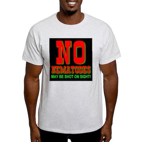 No Nematodes Ash Grey T-Shirt
