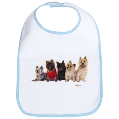 Cairn Terrier Friends Bib