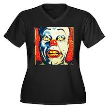 Deadlights Women's Plus Size V-Neck Dark T-Shirt