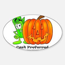 Mr. Deal - Halloween - Cash P Sticker (Oval)