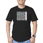 HDCP Master Key Color Grid Men's Fitted T-Shirt (d - Wear the leaked HDCP Master Key in style with this open source design! - Availble Sizes:Small,Medium,Large,X-Large,2X-Large (+$3.00) - Availble Colors: Kelly Green,Black,Asphalt,Royal,Navy,Red,Heather Grey,Olive,Orange,Forest,Cranberry,Teal,Army,Eggplant