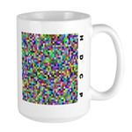 HDCP Master Key Color Grid Large Mug - Wear the leaked HDCP Master Key in style with this open source design!