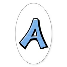 Silly Letter A blue Decal