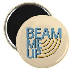 Retro Beam Me Up Magnet