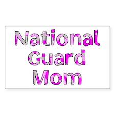National Guard Sister Pink Ca Sticker (Rectangular