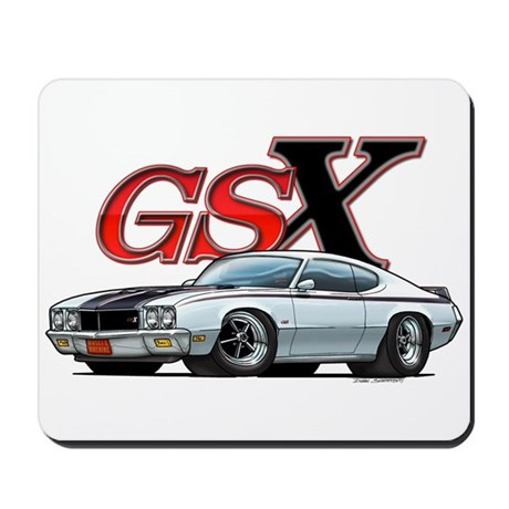 Apollo White Buick GSX Mousepad