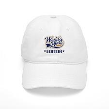 Worlds Best Editor Baseball Cap