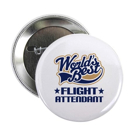 "Worlds Best Flight Attendant 2.25"" Button"