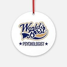 Worlds Best Psychologist Ornament (Round)