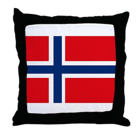 Norway Flag Throw Pillow