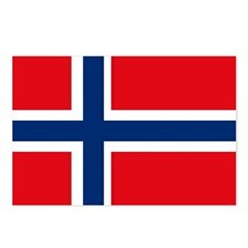 Norway Flag Postcards (Package of 8)