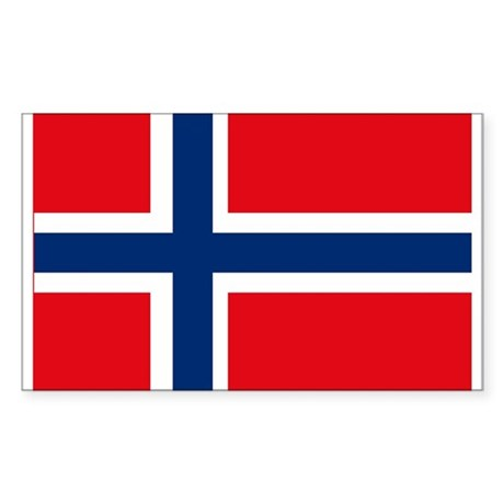 Norway Flag Rectangle Sticker