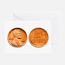 1955 Double Die Lincoln Cent Greeting Card