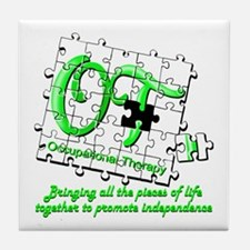 Cute Occupational therapy assistant Tile Coaster