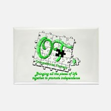 ot puzzlegreen Magnets
