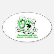 Cute Occupational therapy assistant Sticker (Oval)
