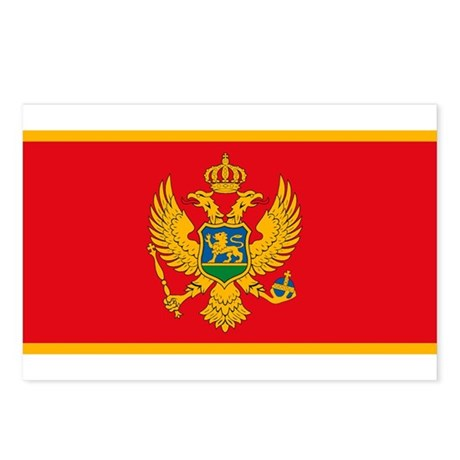 Montenegro Flag Postcards (Package of 8)