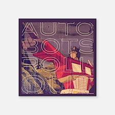 "Transformers Vintage Roll O Square Sticker 3"" x 3"""