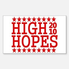 High Hopes Philly 2010 Sticker (Rectangle)