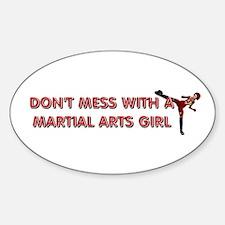 TOP Martial Arts Girl Decal