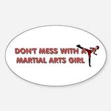 TOP Martial Arts Girl Sticker (Oval)