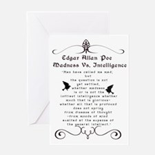 Edgar Alan Poe Greeting Card