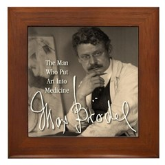 Framed Max Brodel Tile