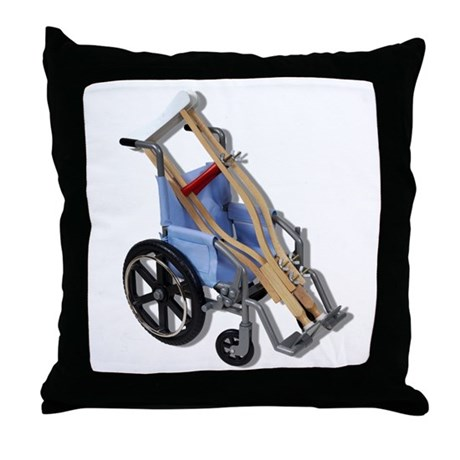 Crutches Wheelchair Throw Pillow