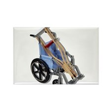 Crutches Wheelchair Rectangle Magnet