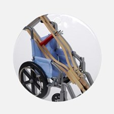 Crutches Wheelchair Ornament (Round)