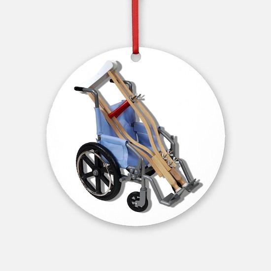 Crutches Wheelchair Ornament (Round)