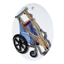 Crutches Wheelchair Ornament (Oval)