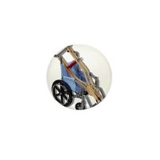 Crutches Wheelchair Mini Button (10 pack)