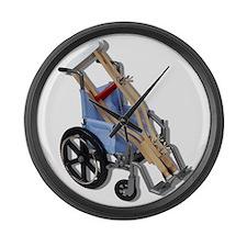 Crutches Wheelchair Large Wall Clock