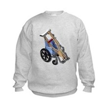 Crutches Wheelchair Sweatshirt